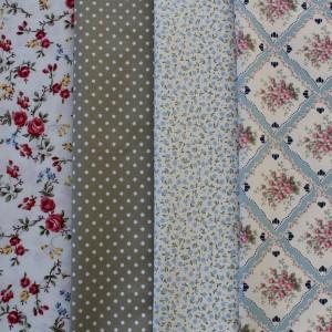 fat quarter fabrics - english country garden colours