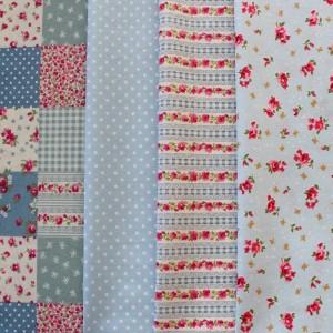 Blue fat quarter fabric bundle
