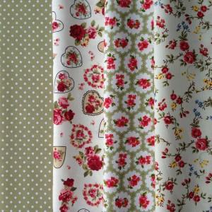 vintage rose design fat quarter fabric