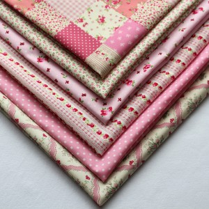 vintage pink fat quarters of fabric