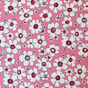 pink flower design fabric