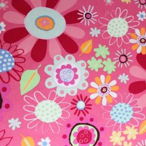 crazy daisy design fabric