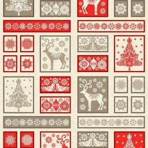 scandi christmas fabric