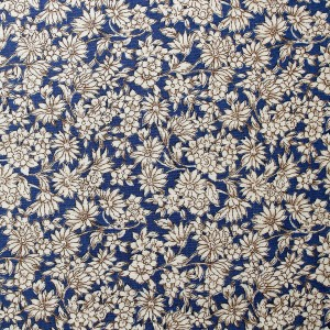 blue and beige flower fabric
