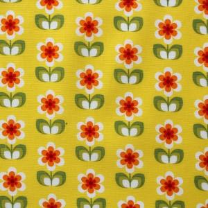 green yellow flower fabric