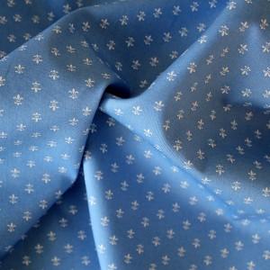 blue fleur de lis fabric