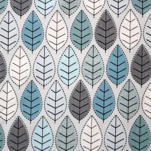 stitched leaf winter - fabric