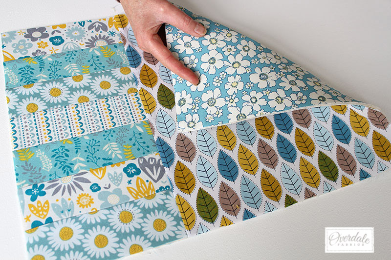 Front and back fabrics for the placemats.