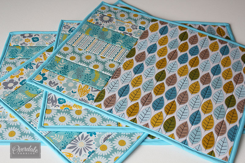 Placemats created with Bonsal fusible foam.
