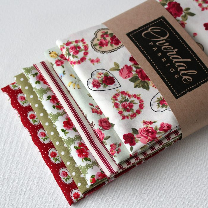 green and red fat quarters