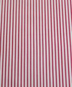 burgundy red ticking stripe fabric