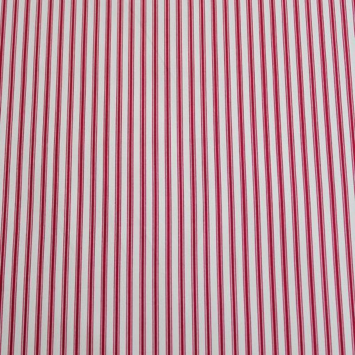 burgundy red ticking stripe fabric