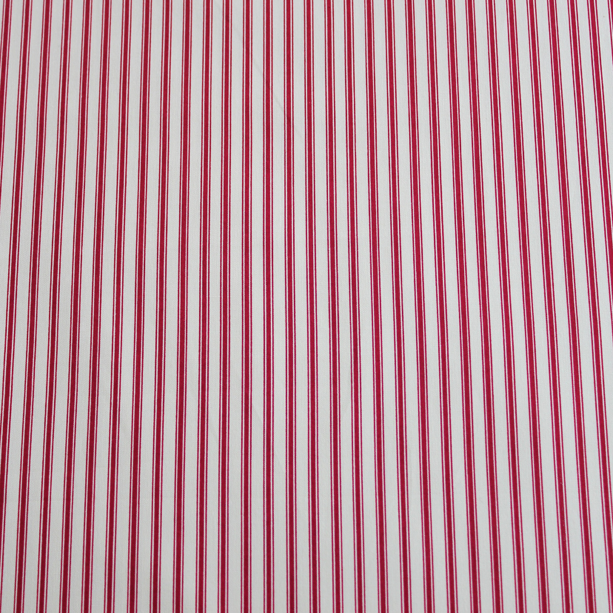 Burgundy red ticking stripe overdale fabrics for Ticking fabric