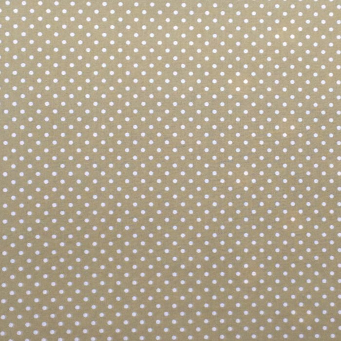sage green polka dot design fabric