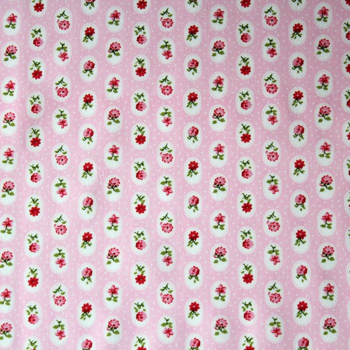 rose medallion pink fabric.