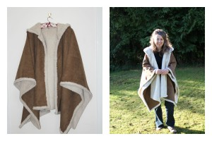 faux sheepskin cape