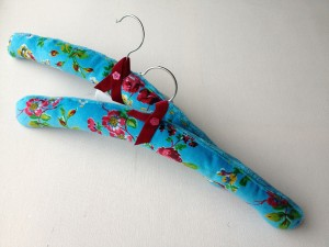 blue fabric coathanger