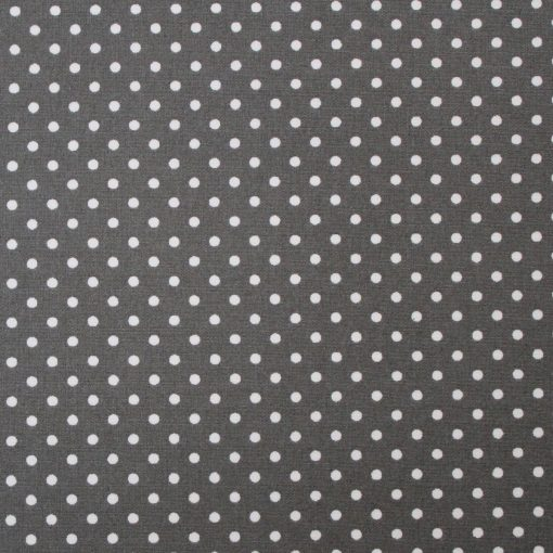 grey polka dot fabric swatch