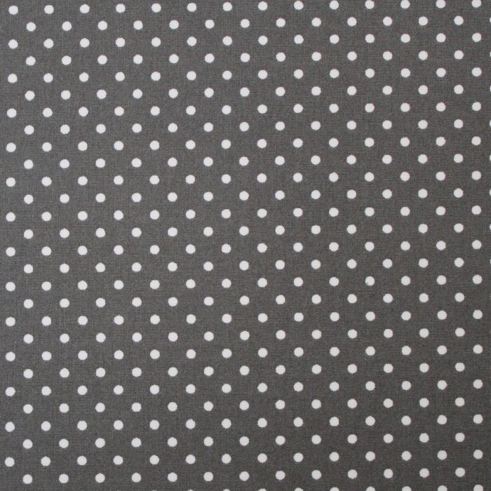 grey polka dot fabric swatch