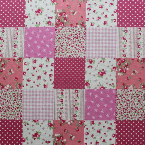 pink patchwork fabric