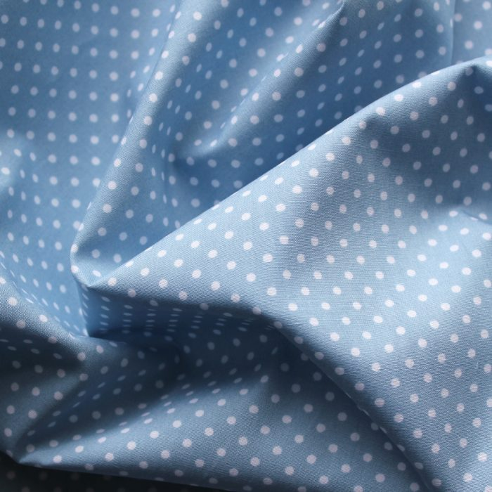 pale blue spot fabric