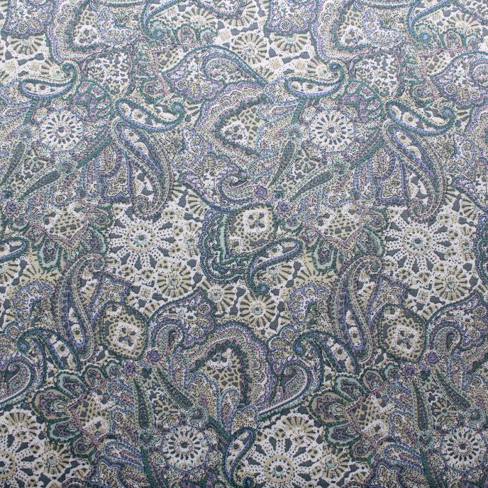 jade paisley fabric