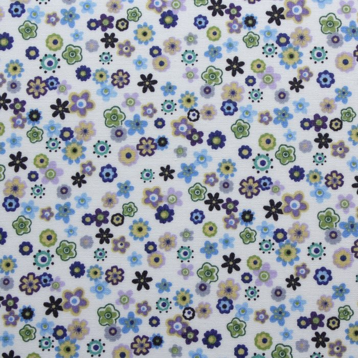 blue and green flower fabric