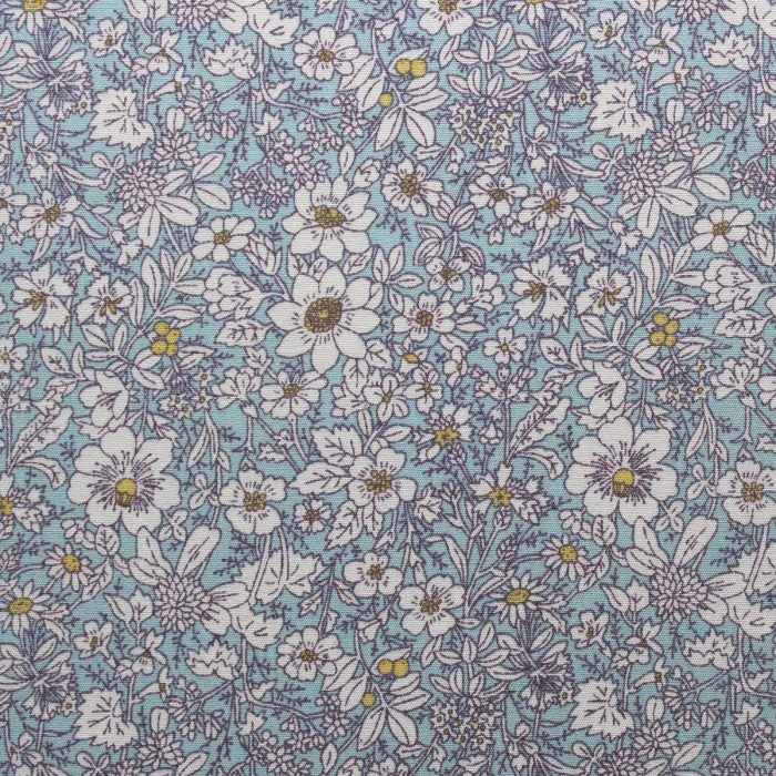 blue flower fabric