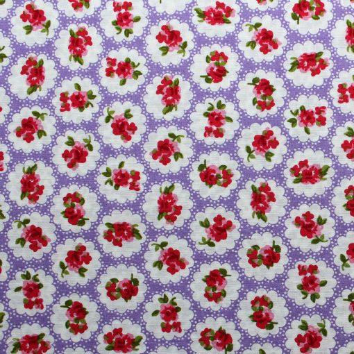 lilac rose design fabric