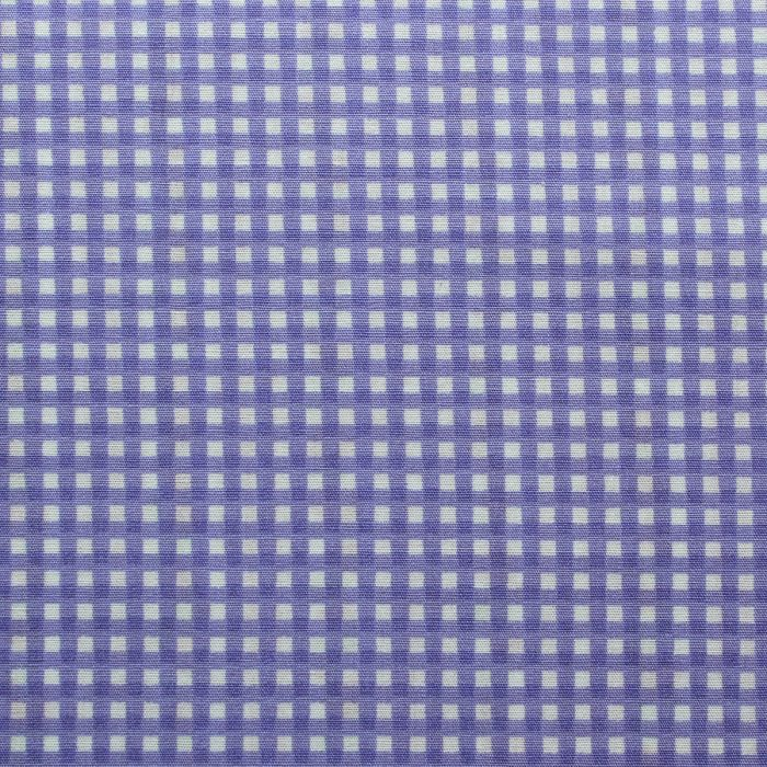 lilac gingham design fabric