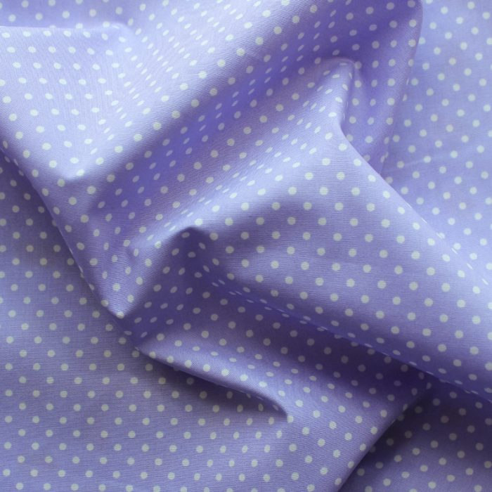 lilac polka dot design fabric