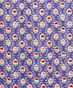 Fabric in lilac with a flower design.