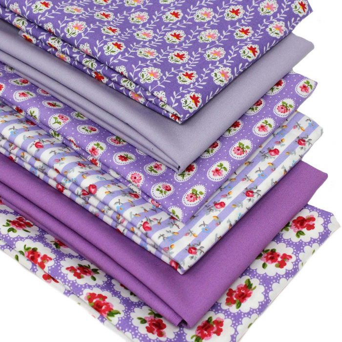 Fabrics in lilac