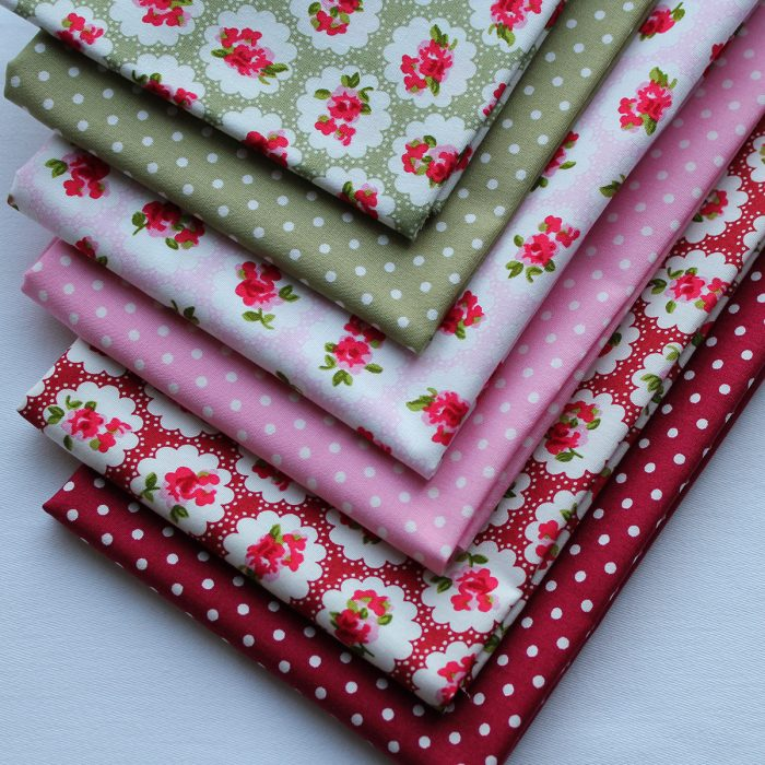 dotty about floral fabric fat quarters