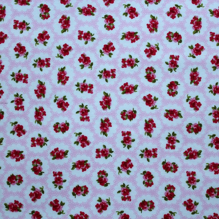 vintage rose fabric in pink