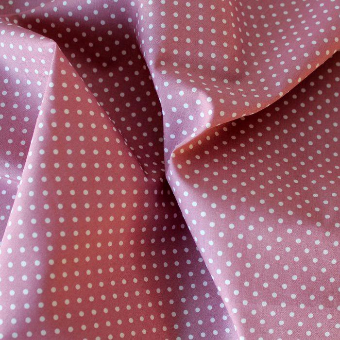 salmon pink polka dot fabric