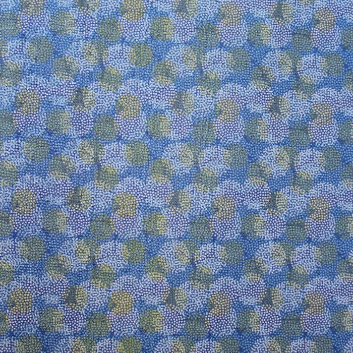 hazy blue green design fabric