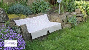 covered garden seat