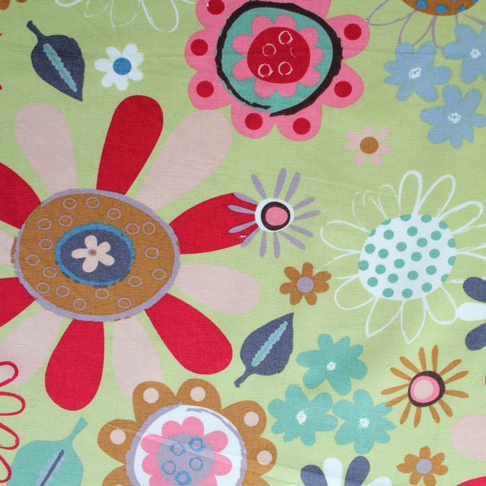 crazy flower design fabric