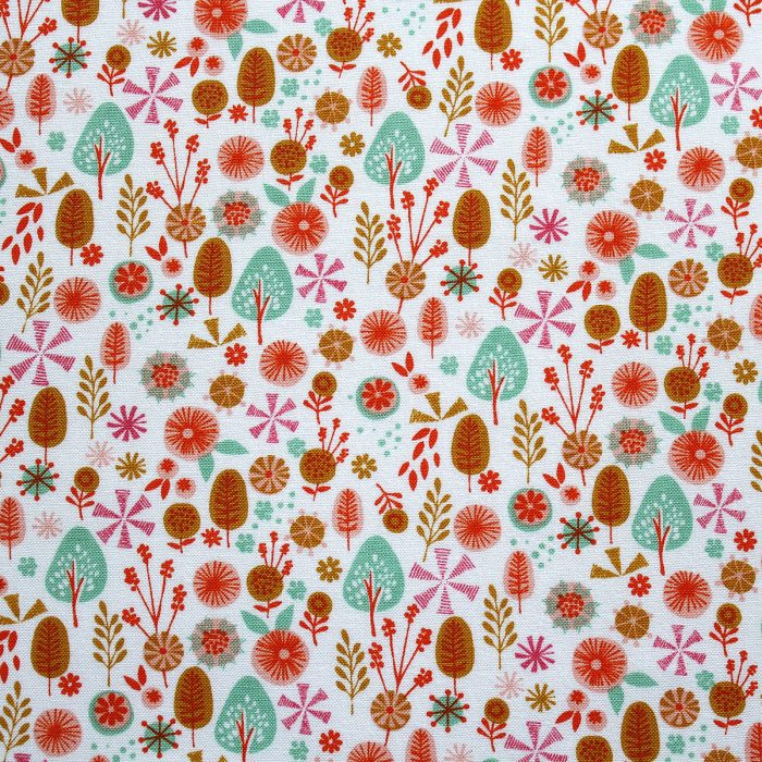 fabric with a woodland design