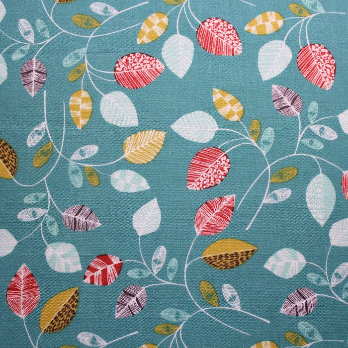 fabric with leaf design
