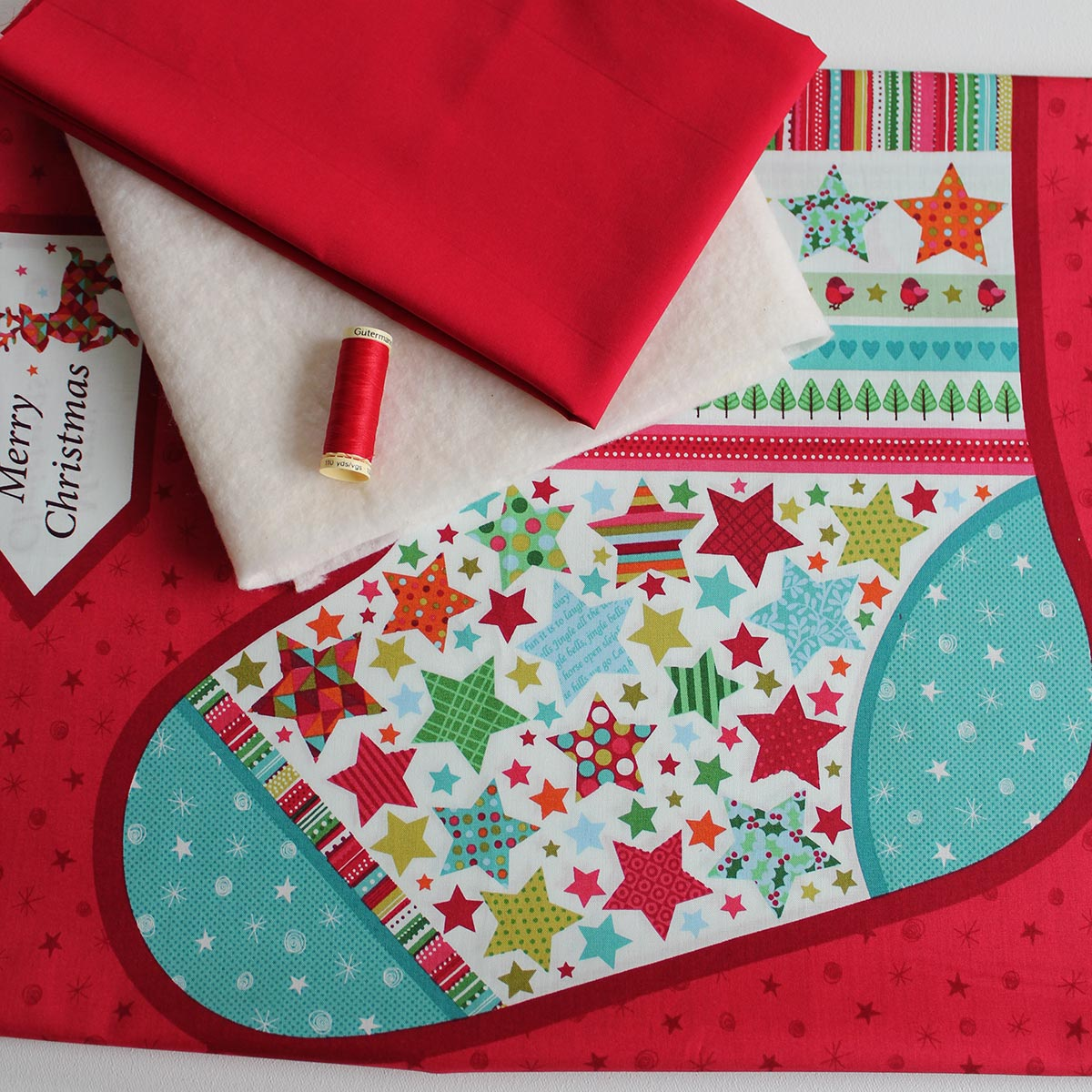 Giant festive christmas stocking sewing kit overdale fabrics christmas jeuxipadfo Gallery