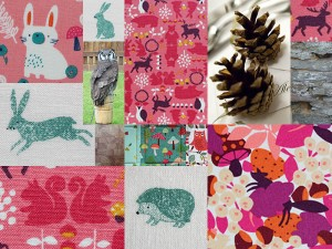 Mood board for design trends autumn winter 2015