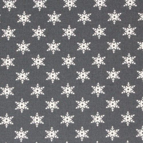 Scandi grey snowflake fabric for Christmas.