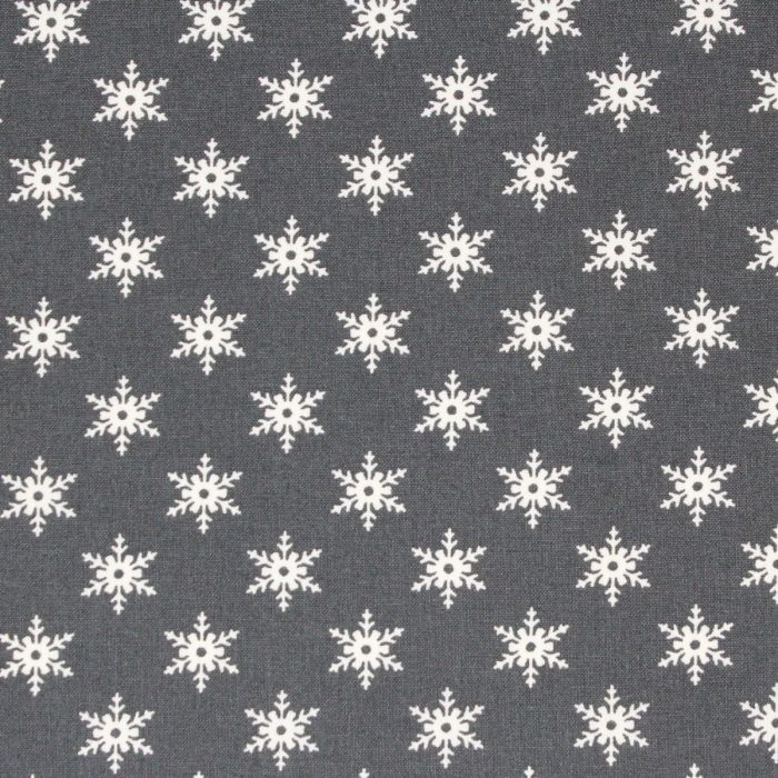 Scandi grey snowflake fabric for Christmas.