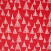 Red Christmas tree fabric.