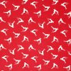 Red reindeer Christmas fabric.