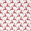 Red reindeer fabric.
