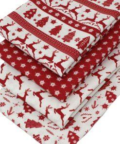 Scandi Christmas fabrics in red.
