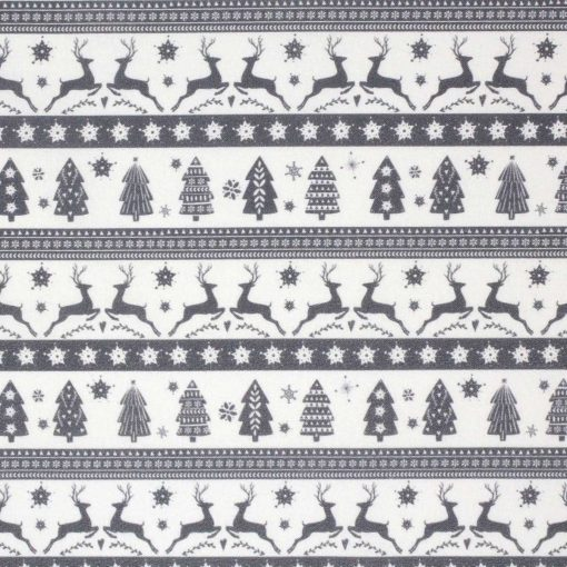 Grey Christmas fabric.